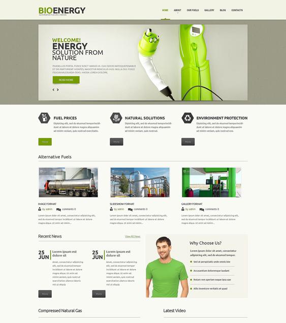 biofuel organic eco-friendly wordpress themes