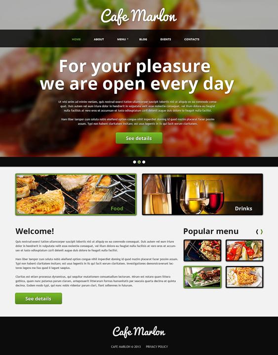 blurred restaurant bakeries bars joomla templates