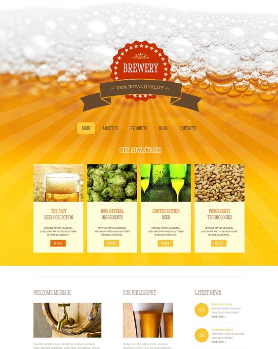 brewery restaurant bakeries bars joomla templates