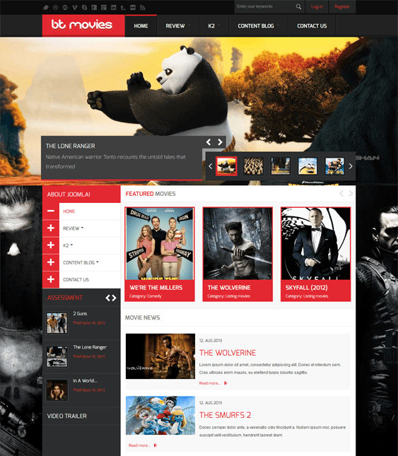 14 of the best joomla templates for tv movie websites br down