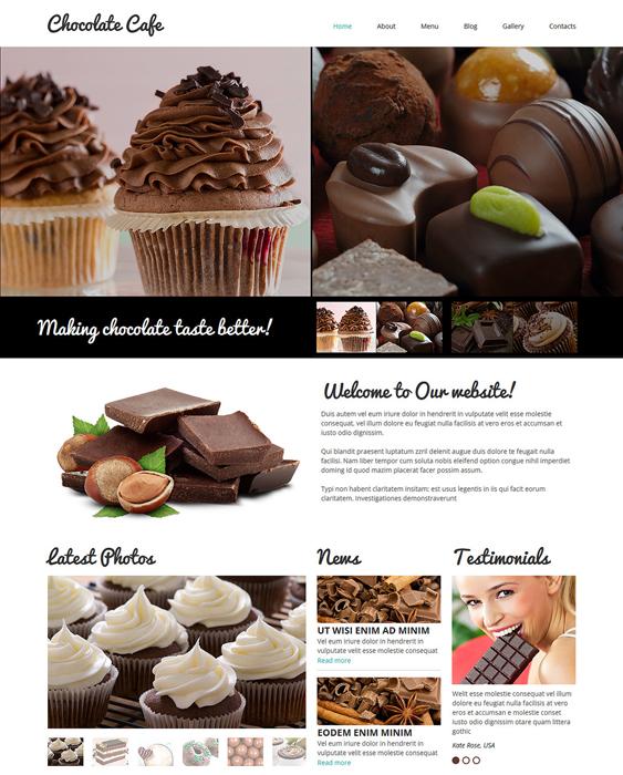 cafe responsive restaurant bakeries bars joomla templates