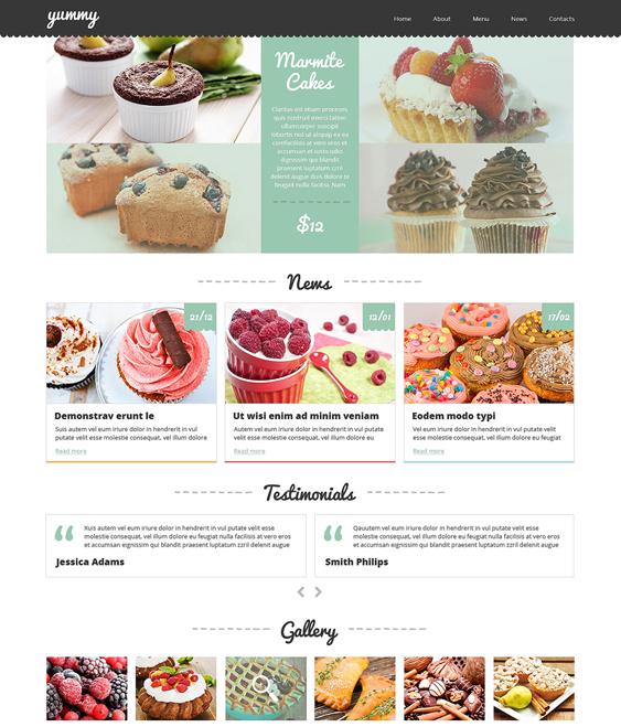 cafe restaurant bakeries bars joomla templates