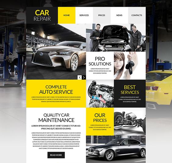 car workshop car mechanic repair shop wordpress themes