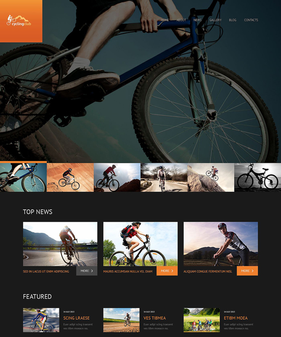 cycling dark wordpress themes
