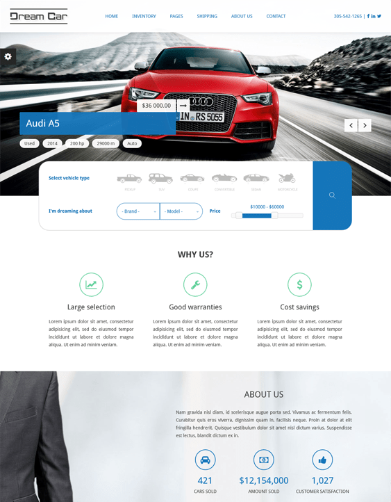 dream car clean drupal themes