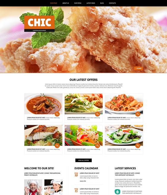 european restaurant bakeries bars joomla templates