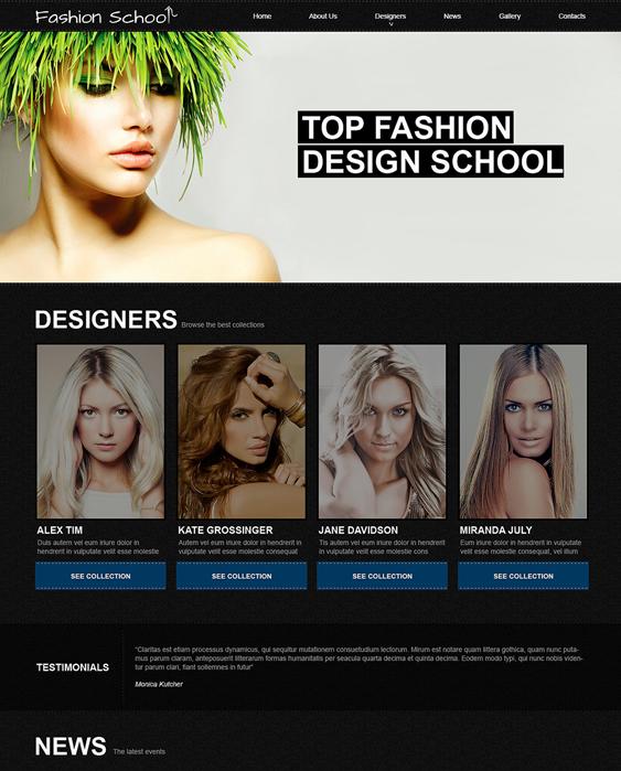 fashion design education joomla templates