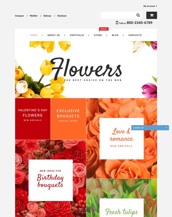 flower shop florist wordpress theme