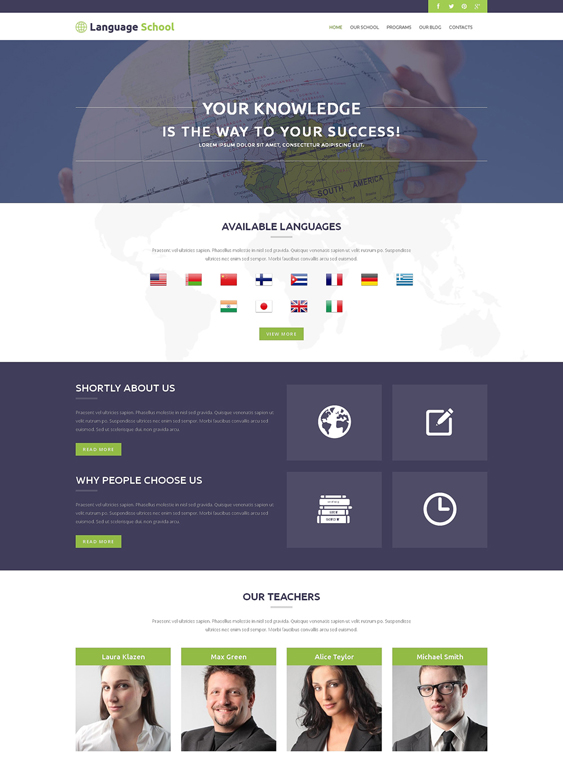 foreign education wordpress themes
