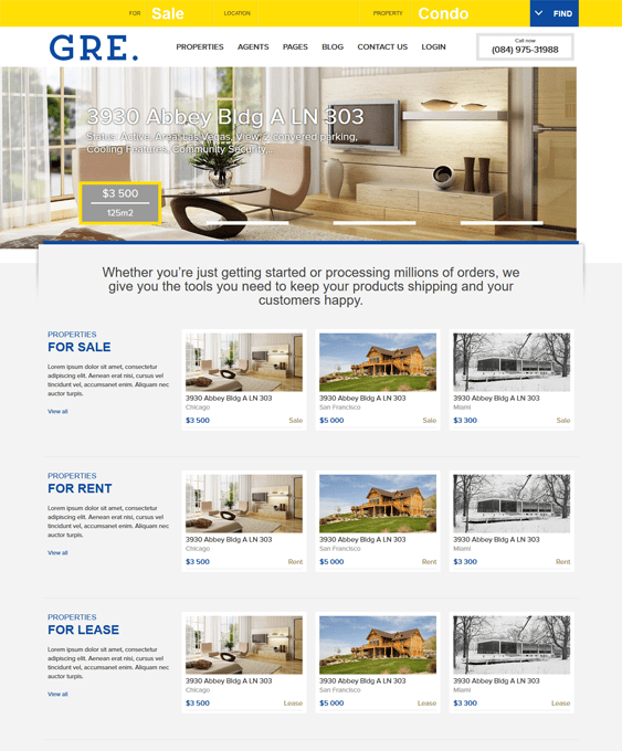 gre real estate drupal theme