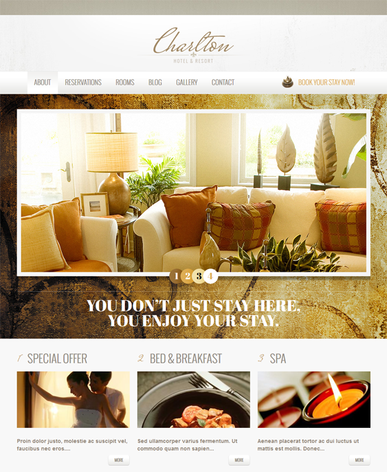 resort hotel drupal themes
