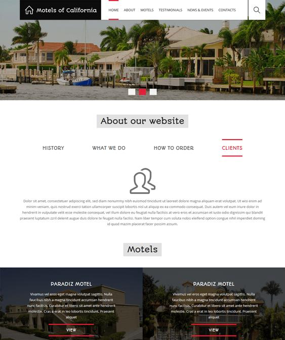 hotels motels hotel drupal themes