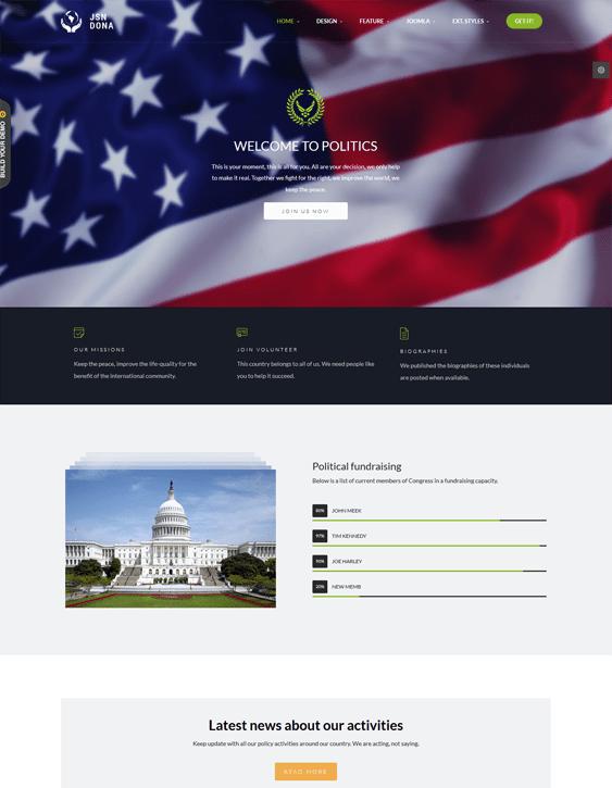 jsn dona political joomla templates