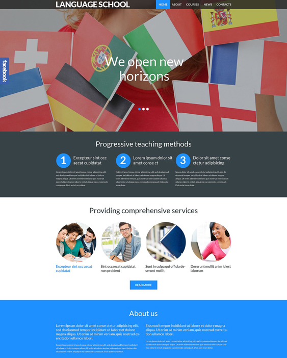 language school wordpress themes