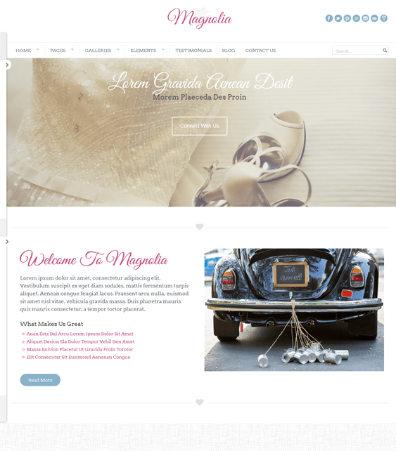 magnolia wedding wordpress themes