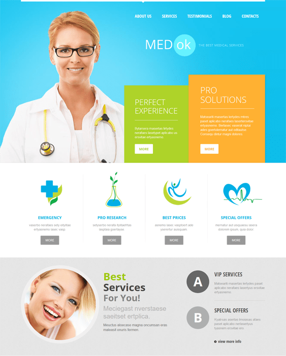 medical joomla templates services