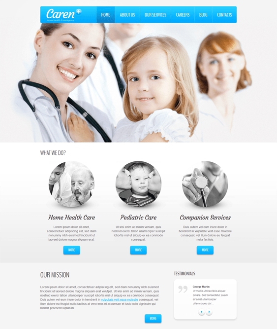 mild medical joomla templates