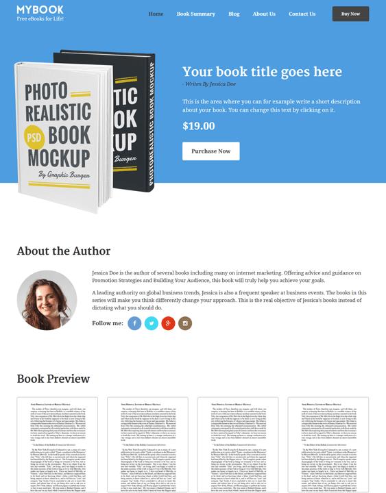 mybook ebook author wordpress theme