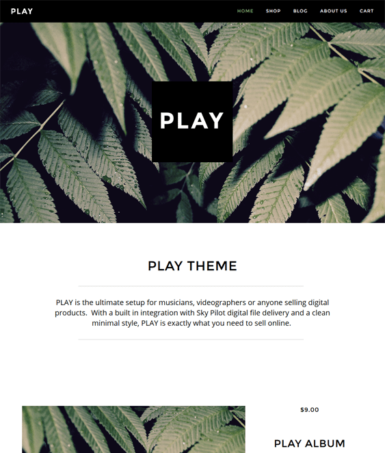 pipeline play minimal shopify themes