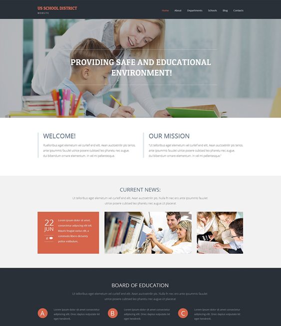 primary education wordpress themes