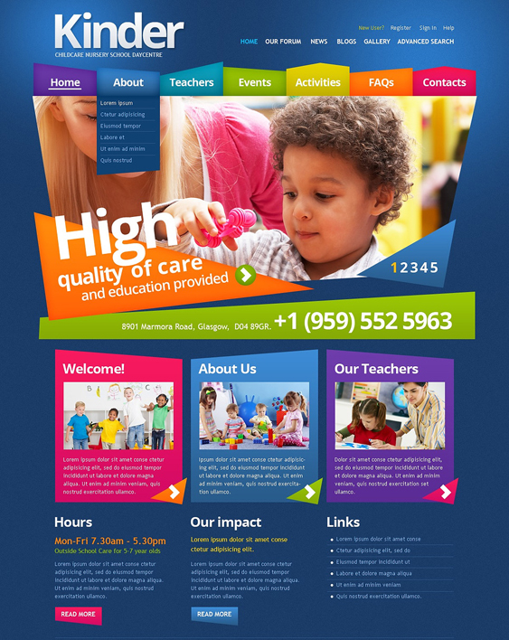 primary education drupal themes