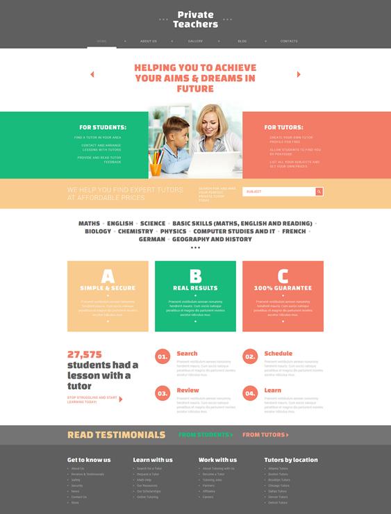 private education joomla templates