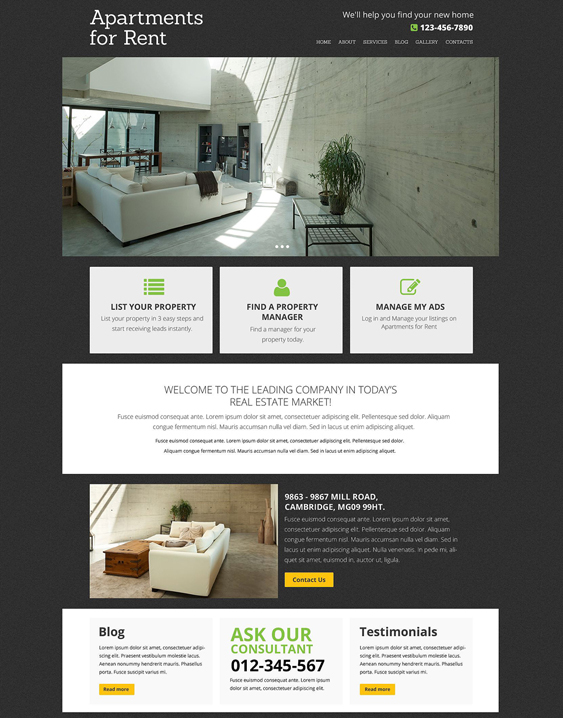 real estate clean drupal themes