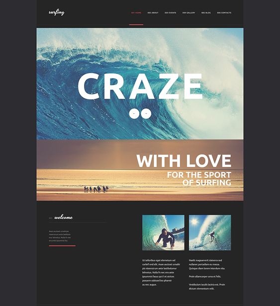 surfing dark wordpress themes