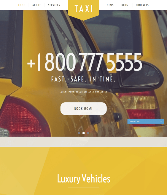 taxi service transportation wordpress themes