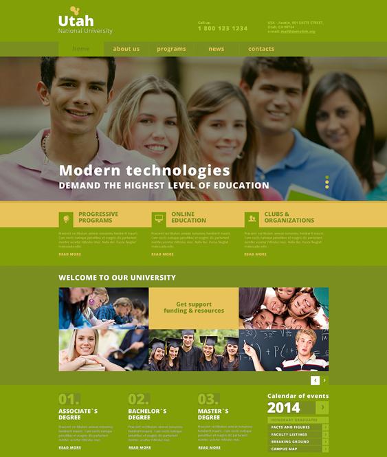 university responsive education joomla templates