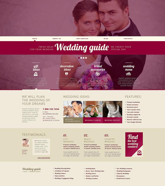 wedding wordpress themes planner
