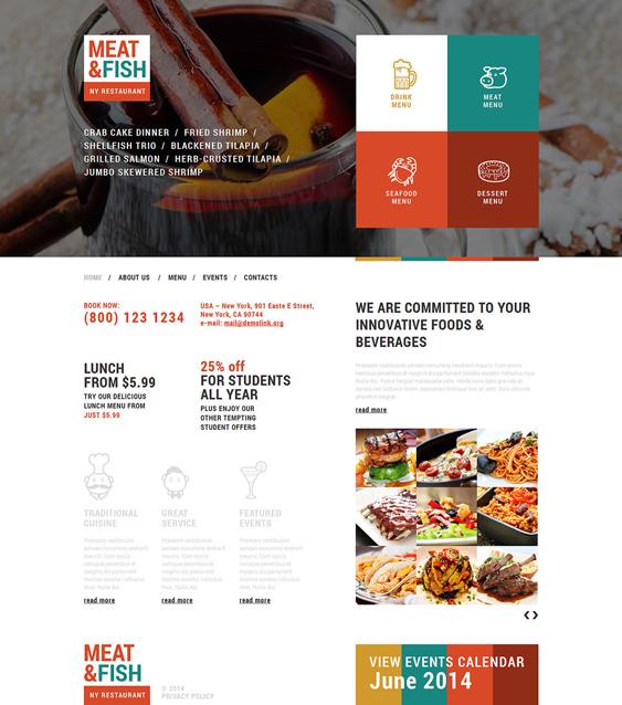 your restaurant bakeries bars joomla templates