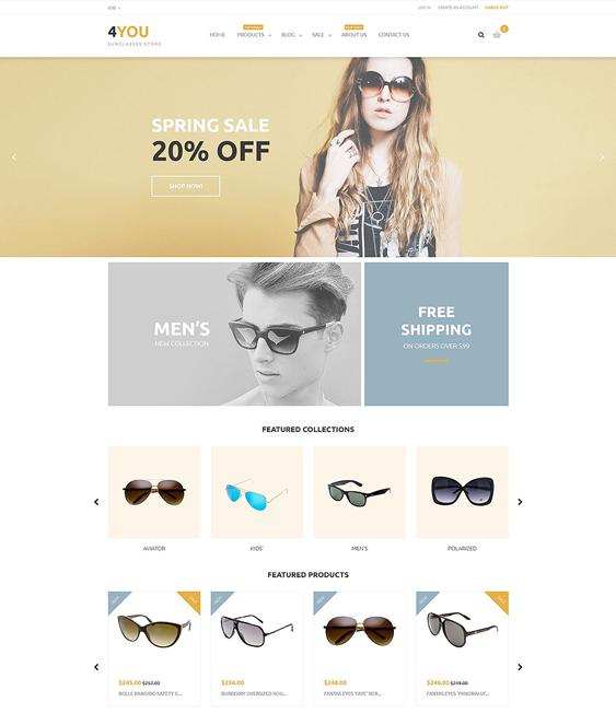 4you cool sunglasses eyewear shopify themes