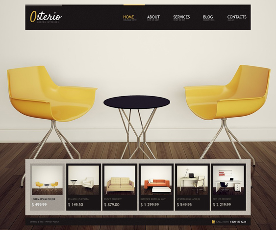 interior design wordpress furniture themes