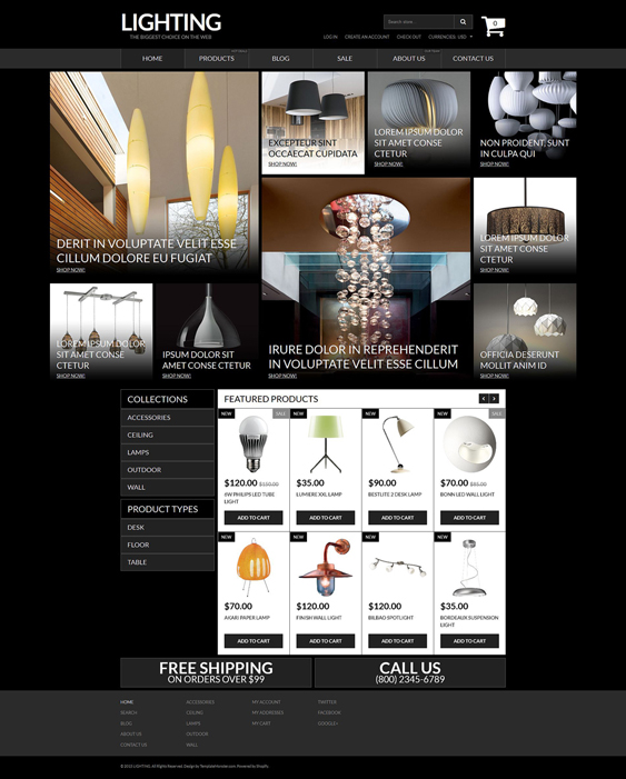 lighting home decor interior design shopify themes