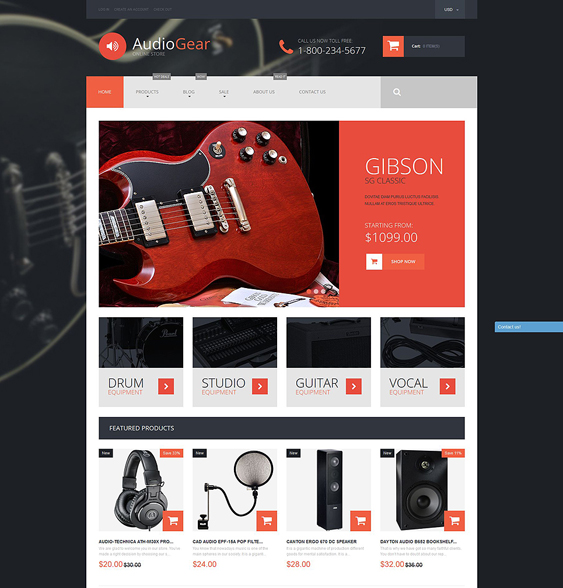 musical electronics shopify themes
