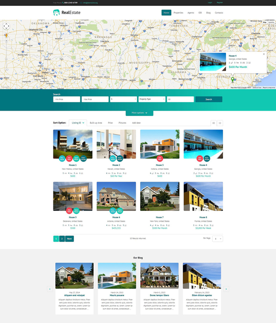 real estate wordpress themes 1