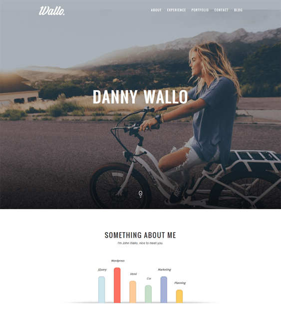 wallo one page wordpress themes