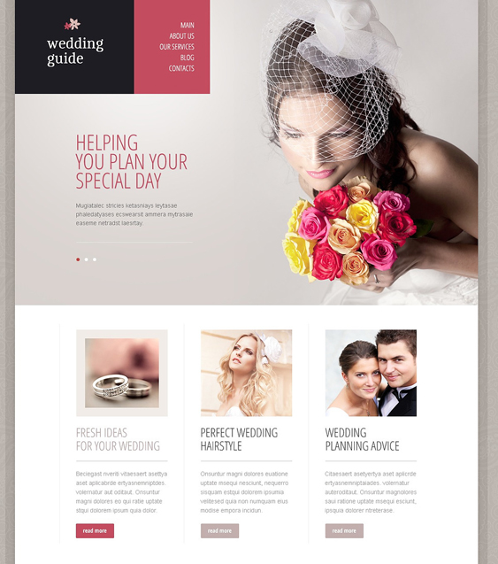 elegant wedding drupal themes