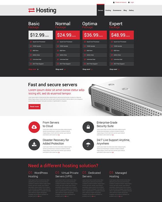 web hosting drupal themes responsive