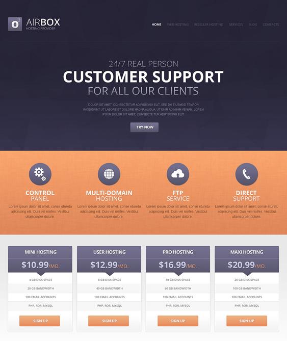 simple web hosting drupal themes