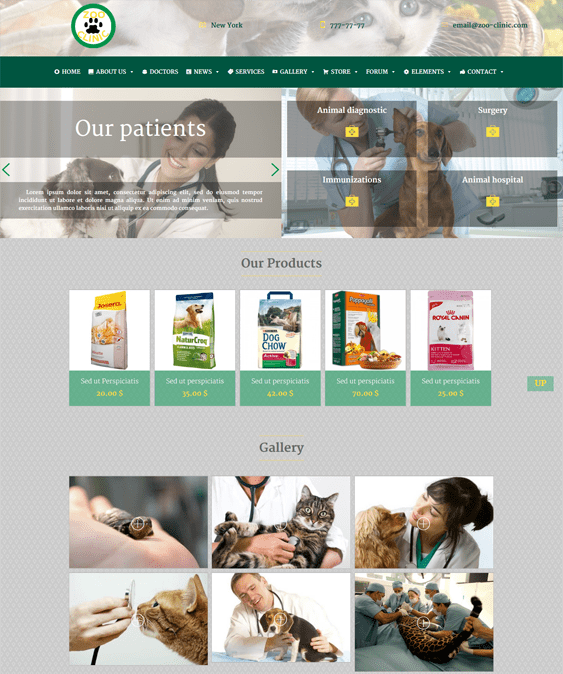 zoo clinic vets pets wordpress themes