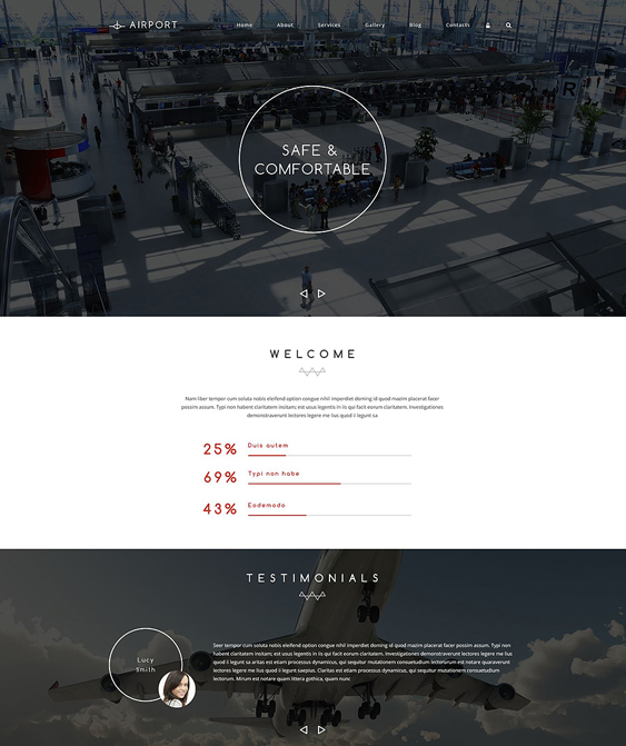 airline transportation drupal themes