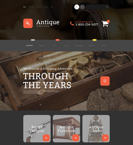 antique dark magento themes