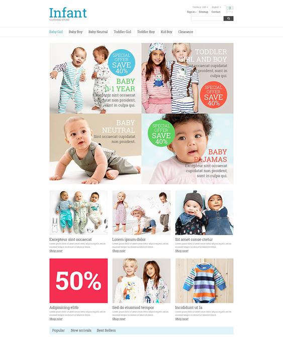 baby store kids prestashop themes