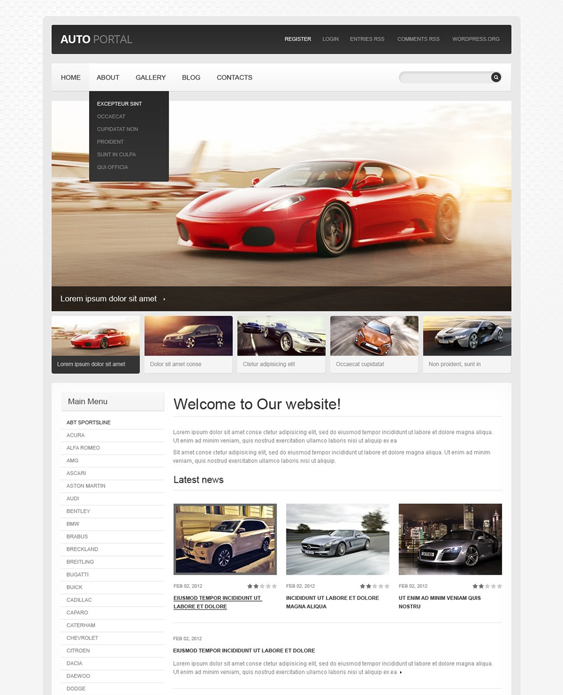 car vehicle automotive wordpress themes 3