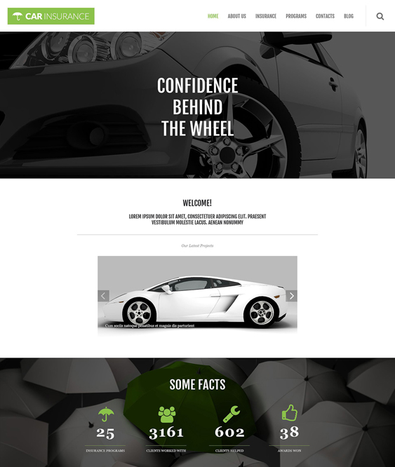 car vehicle automotive wordpress themes insurance