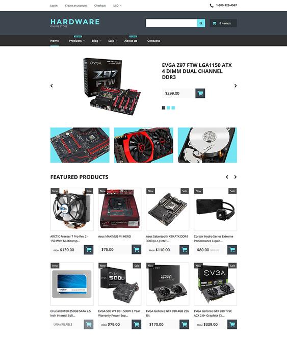 computer electronics shopify themes