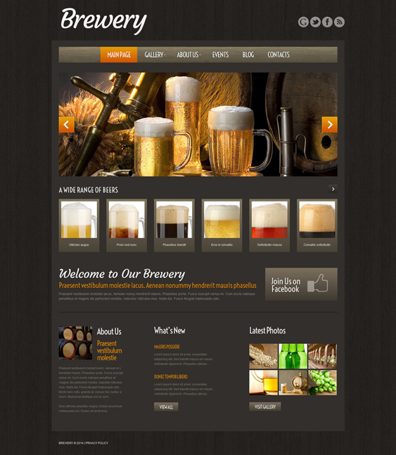 craft beer dark wordpress themes