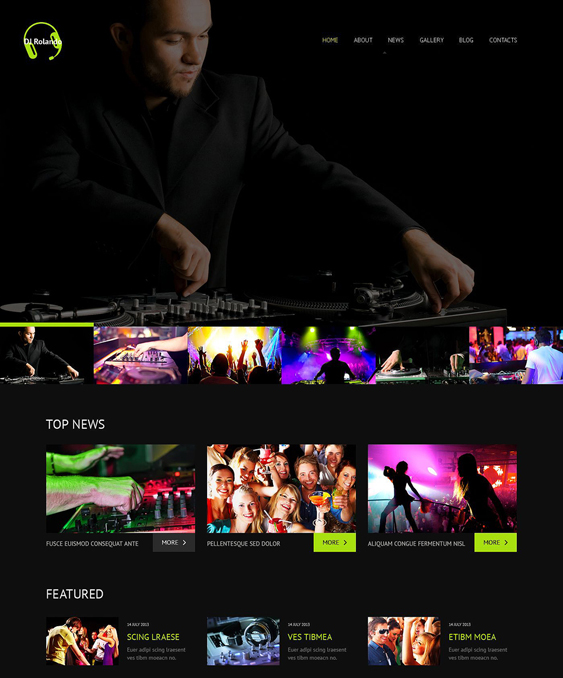dj responsive music wordpress themes
